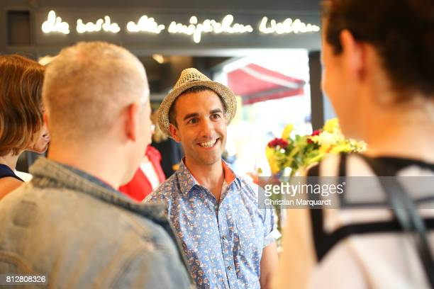 Kian ShamsDolatabadi pictuerd during the 'Kians Garden Flower Shop' Opening Event at Kantstrasse on July 11 2017 in Berlin Germany