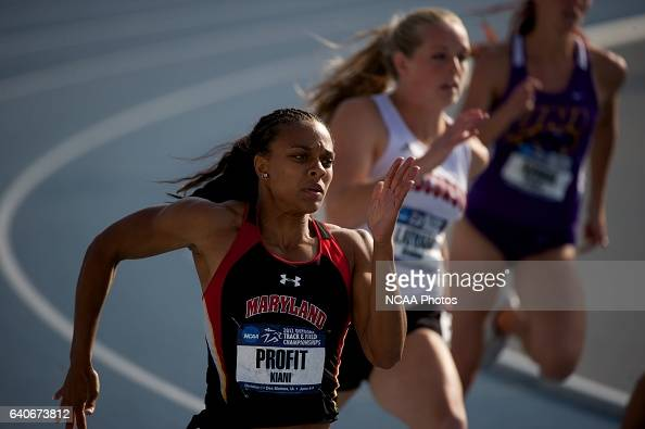Kiani Profit of the University of Maryland races in the women's 200 meter dash semifinals during the Division I Men's and Women's Outdoor Track and...