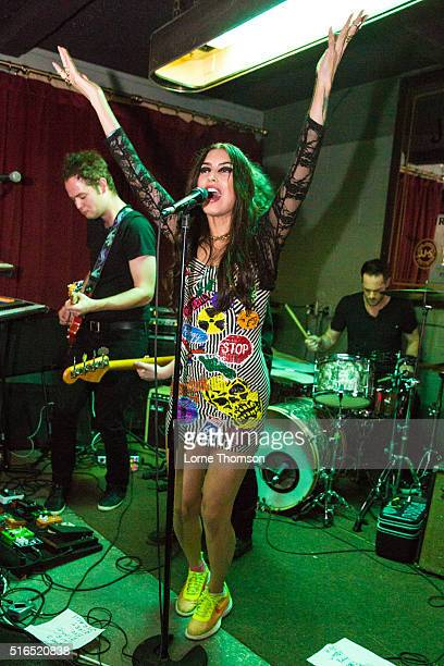 Kianna Alarid of Yes You Are performs at ShangriLa on March 18 2016 in Austin Texas