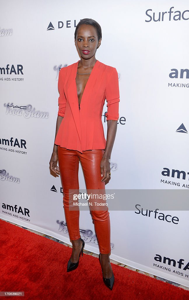 Kiara Kabukuru attends the 4th Annual amfAR Inspiration Gala New York at The Plaza Hotel on June 13, 2013 in New York City.