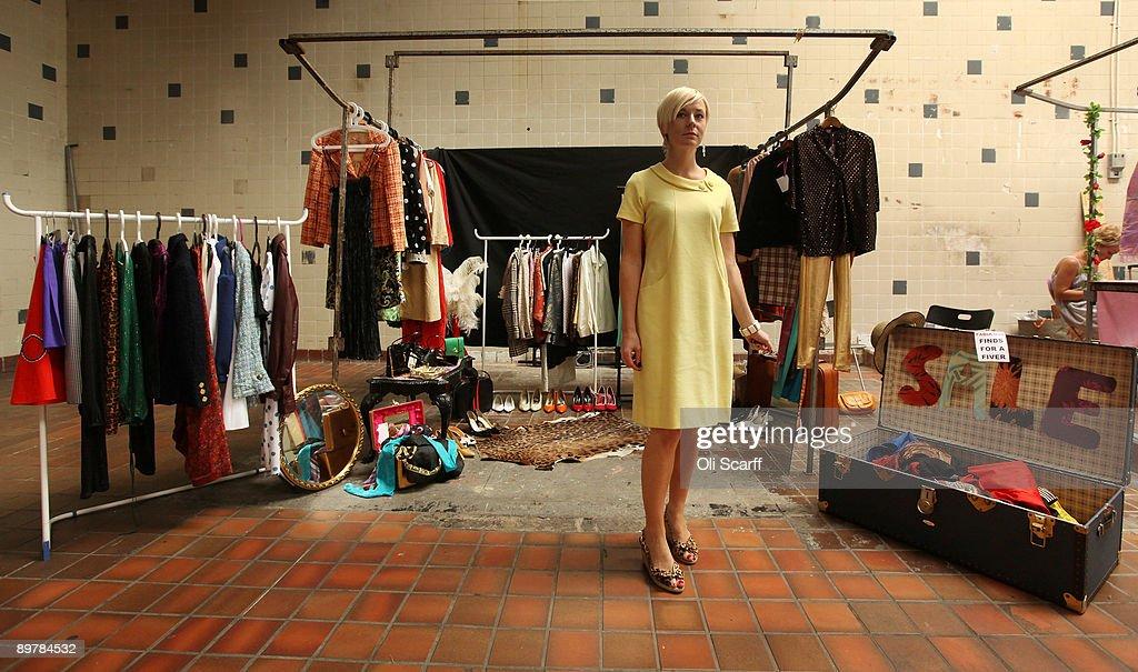 Brick Lane Hosts Vintage Pop-Up Market Photos and Images | Getty ...