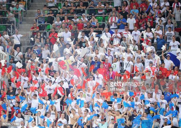 kibice Czechy during the UEFA European Under21 match between Czech Republic and Denmark at Arena Tychy on June 24 2017 in Tychy Poland