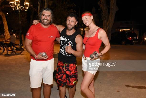 Kick Boxing champion Yohan Lindon and guests attend the AJILA Sauvez le coeur des femmes Petanque Auction Competition at Place des Lices on August 6...