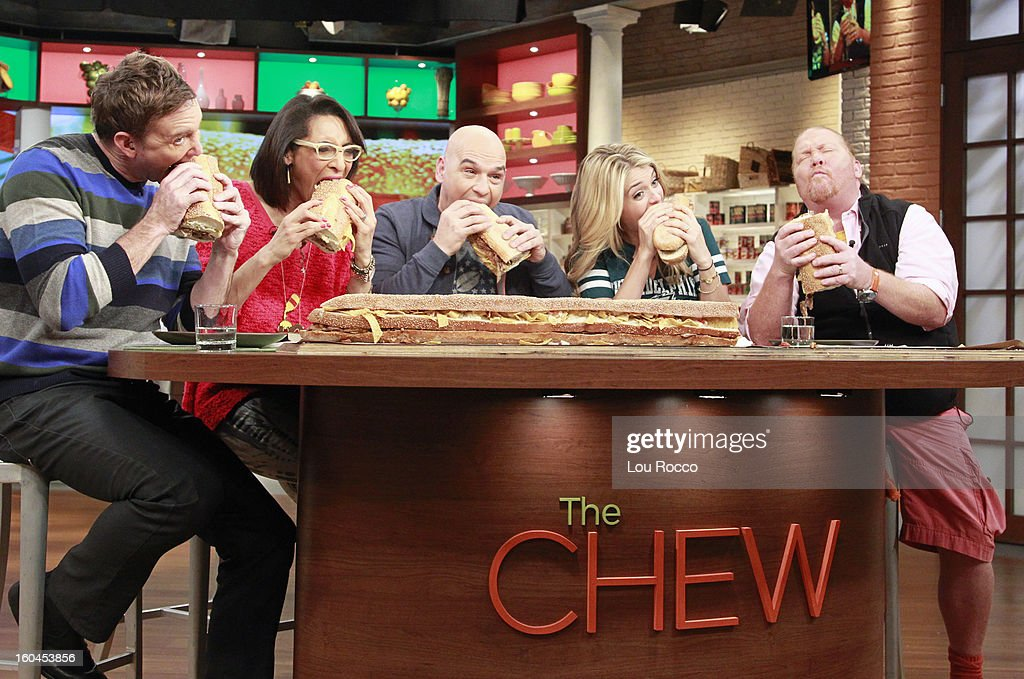 THE CHEW - Kick off the big game with a Pre-Game Tailgate Party at The Chew today, January 31, 2013. Shown here, Carla cooks with actress, Callie Thorne. 'The Chew.' 'The Chew' airs MONDAY - FRIDAY (1-2pm, ET) on the ABC Television Network. BATALI