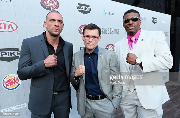Kickboxers Joe Schilling Ky Hollenbeck and Jarrell Miller aka 'Big Baby Miller' attend Spike TV's 'Guys Choice 2014' at Sony Pictures Studios on June...
