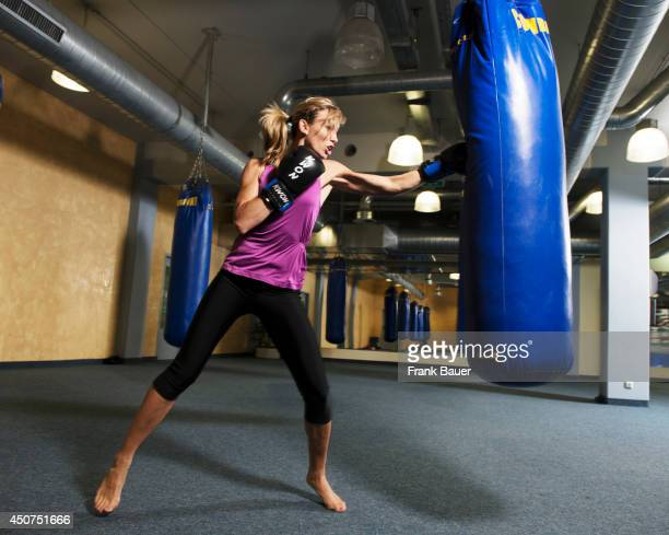 Kickboxing champion Christine Theiss ia photogrpahed in Munich Germany