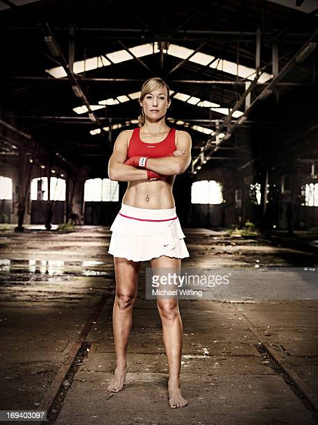 Kickboxing champion Christine Theiss is photographed for Loox magazine on June 4 2012 in Munich Germany