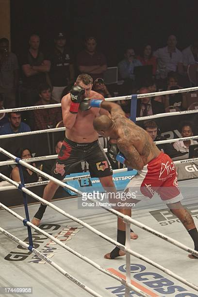 GLORY 9 Tyrone Spong in action punch during 95kg Slam semifinal bout vs Filip Verlinden at Hammerstein Ballroom New York NY CREDIT Chad Matthew...