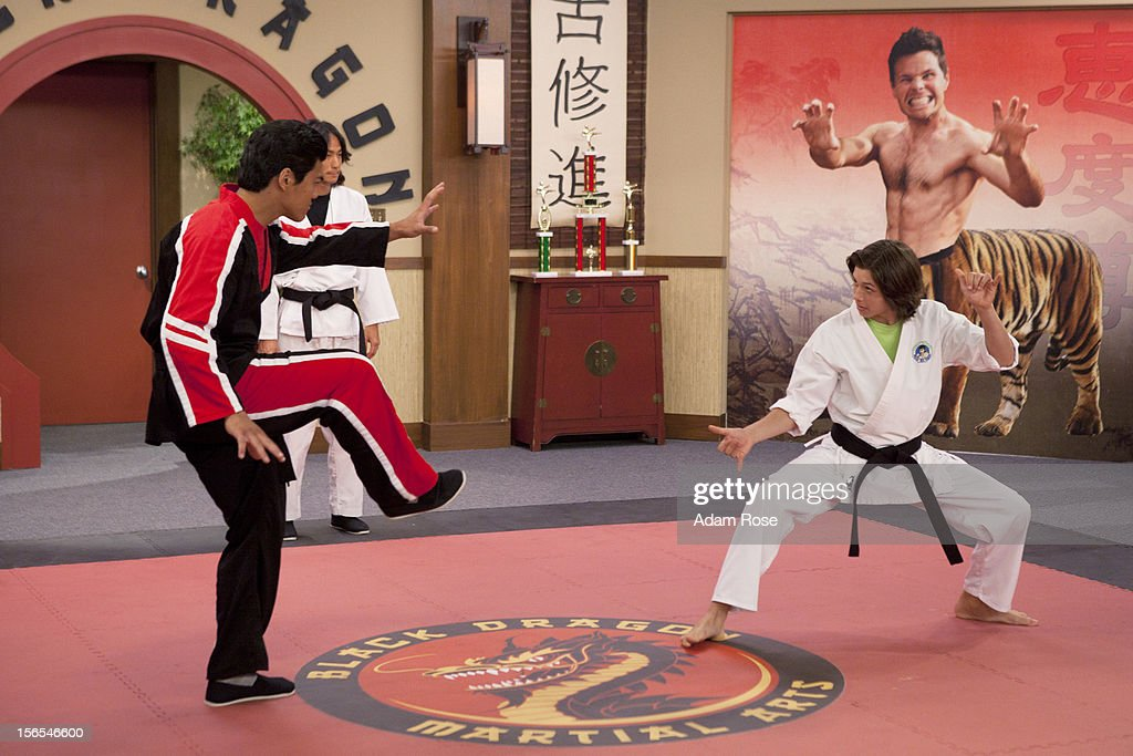 KICKIN' IT - 'Kickin' It On Our Own – Part 1 and 2' - When Rudy's uncle Blake (played by George Wendt) offers him a high profile job at his chain of amusement parks, Rudy quits the dojo and Bobby Wasabi sells it to Ty and the Black Dragons. After Ty downgrades the Wasabi Warriors to white belts, they all decide to leave the dojo and go their separate ways. When Rudy calls the gang together for dinner to make a big announcement, he discovers the truth and decides to win back his dojo via a tournament with Ty and the Black Dragons. Milton enlists the help of his Aunt Jillian (played by Jillian Michaels) to get them back in shape for the tournament, but, Ty brings in a ringer, WWE star Kofi Kingston, to go up against Rudy, in a new episode of 'Kickin' It,' MONDAY, NOVEMBER 19 (8:00-9:00 p.m., ET/PT) on Disney XD. HOWARD