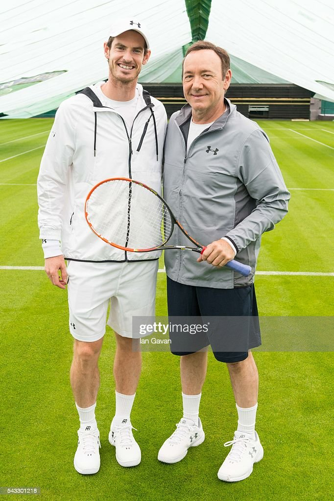 Kicking off his campaign for The Championships at Wimbledon 2016 Andy Murray is joined by Kevin Spacey on the All England Club's Centre Court to...