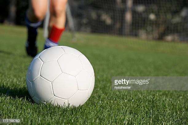 Treten Fußball ball