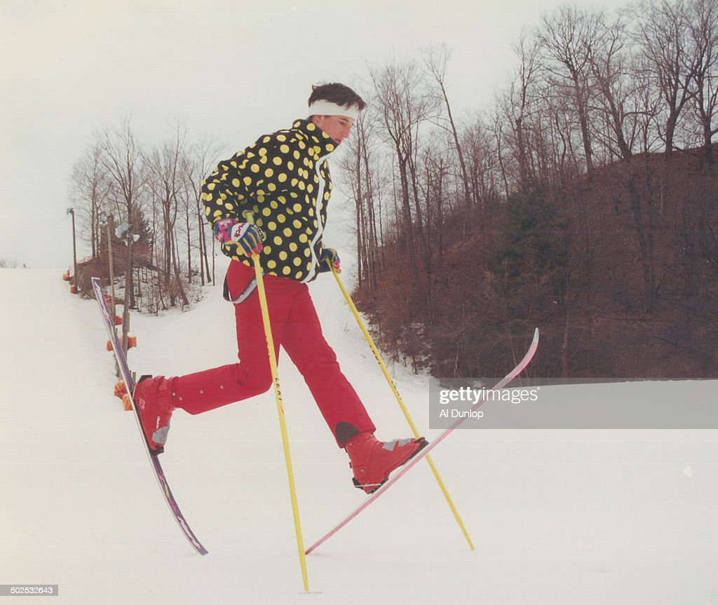 Kicking up his heels in disgust Freestyle skier Matt Christensen 17 of North York just qualified for the national junior ski team but he's unhappy...