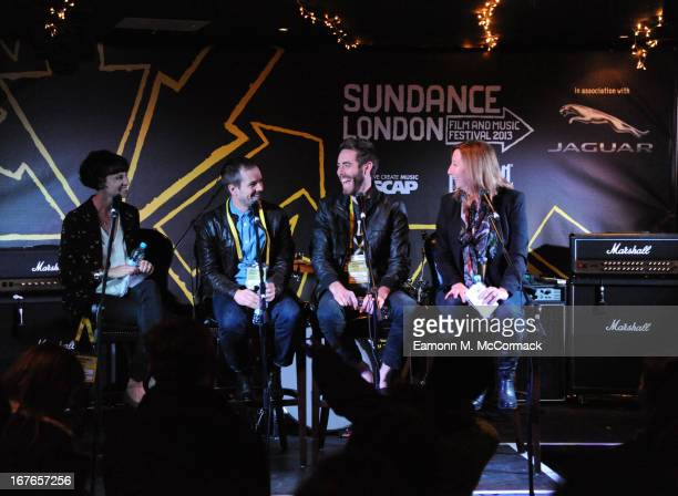 Kickstarter Director of Marketing Kendel Ratley Blood Brother director Steve Hoover producer Danny Yourd and Executive Director of Sundance Keri...