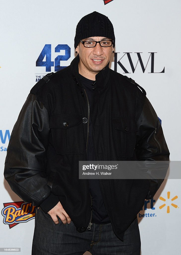 <a gi-track='captionPersonalityLinkClicked' href=/galleries/search?phrase=Kid+Capri&family=editorial&specificpeople=577470 ng-click='$event.stopPropagation()'>Kid Capri</a> attends the '42' event honoring Jackie Robinson at the Brooklyn Academy of Music on March 25, 2013 in New York City.