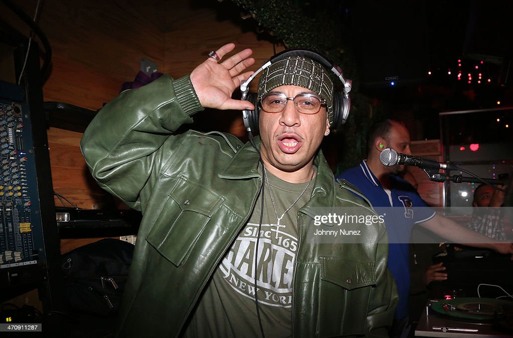 DJ Kid Capri spins during the Kid Capri Birthday Celebration & Euro Performance at Greenhouse on February 20, 2014 in New York City.