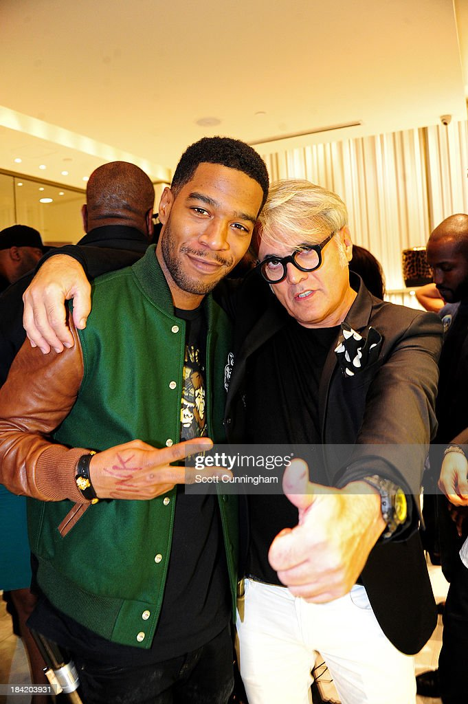 <a gi-track='captionPersonalityLinkClicked' href=/galleries/search?phrase=Kid+Cudi&family=editorial&specificpeople=5633679 ng-click='$event.stopPropagation()'>Kid Cudi</a> and Giuseppe Zanotti attend the Opening Party for the Giuseppe Zanotti Store at Phipps Plaza on October 11, 2013 in Atlanta, Georgia.