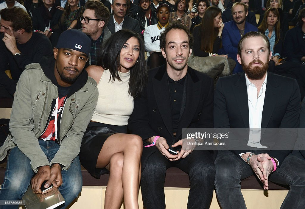 Kid Cudi, Jessica Szohr; Albert Hammond Jr and Caleb Followill attend the 2012 Victoria's Secret Fashion Show at the Lexington Avenue Armory on November 7, 2012 in New York City.