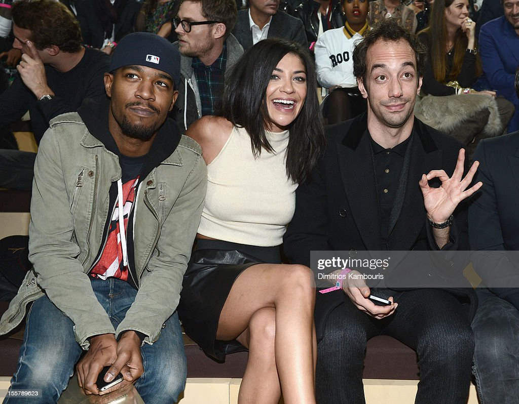 Kid Cudi, Jessica Szohr and Albert Hammond Jr attend the 2012 Victoria's Secret Fashion Show at the Lexington Avenue Armory on November 7, 2012 in New York City.