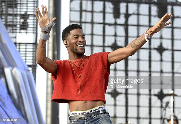 Kid Cudi performs as part of the Coachella Valley Music and Arts Festival at The Empire Polo Club on April 12 2014 in Indio California