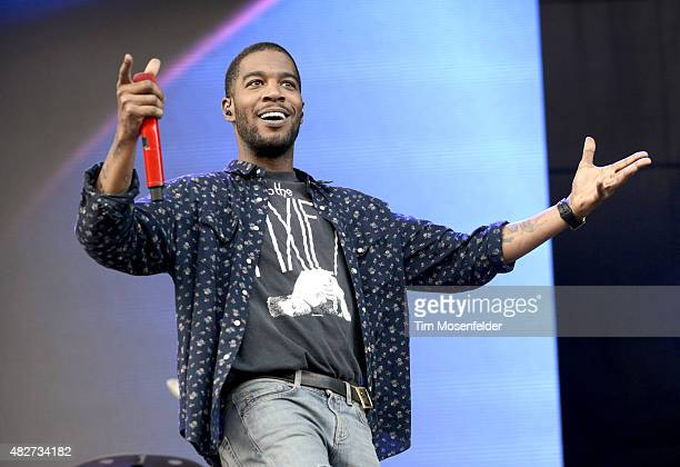 Kid Cudi performs during Lollapalooza at Grant Park on August 1 2015 in Chicago Illinois