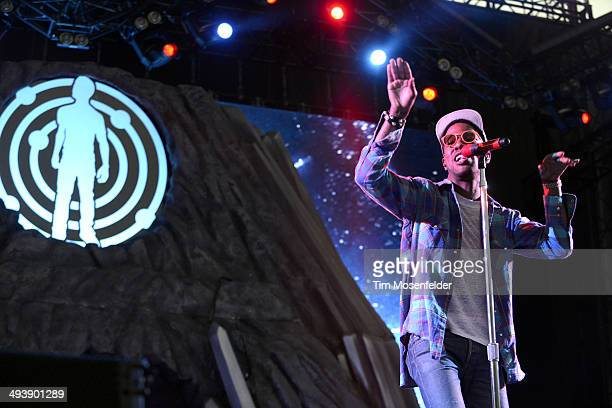 Kid Cudi performs during the Saquatch Music Festival at the Gorge Amphitheater on May 25 2014 in George Washington