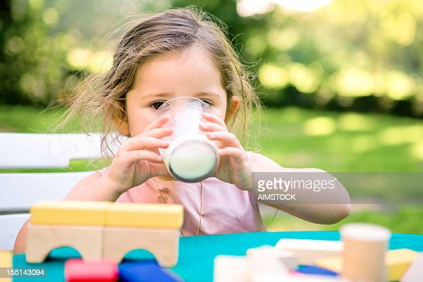 Kid drinking milk