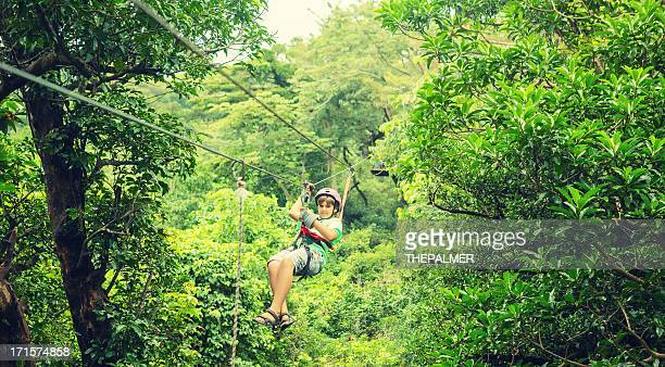 kid during a Canopy Tour Costa Rica