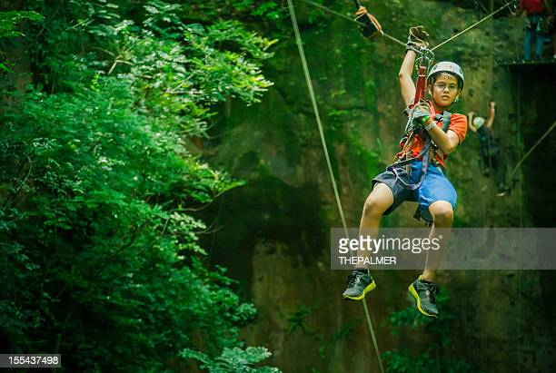 kid during a Canopy Tour in Costa Rica
