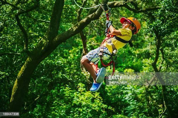 Enfants lors d'un «Canopy Tour au Costa Rica