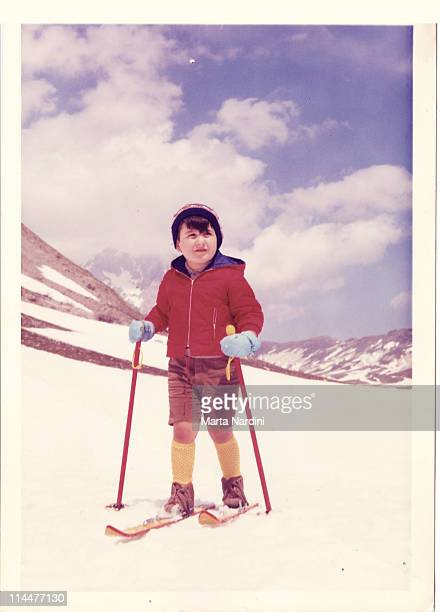 Kid in the snow -Italy 60's