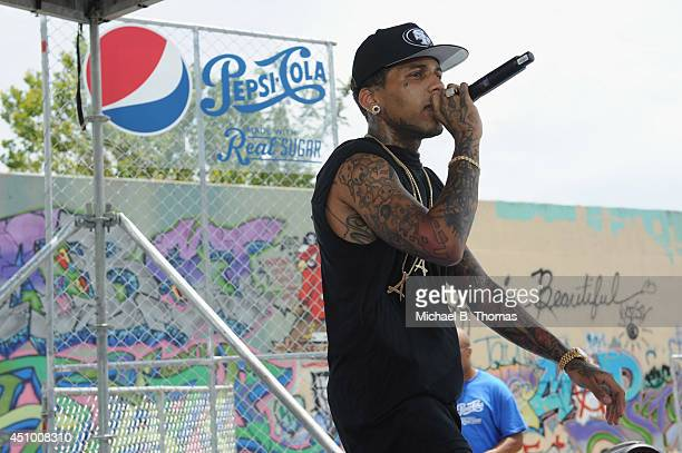 Kid Ink performs at Pepsi Summer Solstice concerts on Vevo June 21 2014 in St Louis Missouri