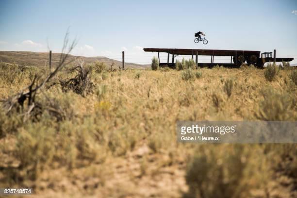 Kid Jumps BMX Bike