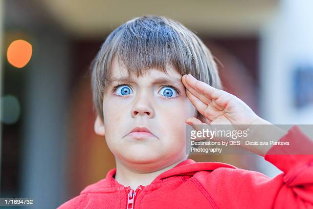 Kid Making Faces