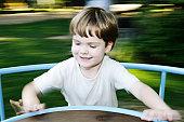 Kid on the merry-go-round