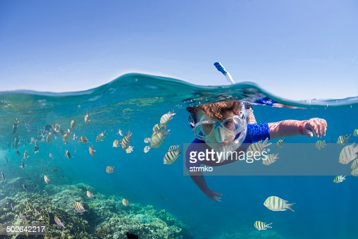 Kid on the reef