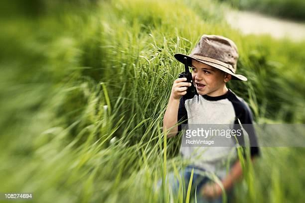 Kid on Walkie Talkie