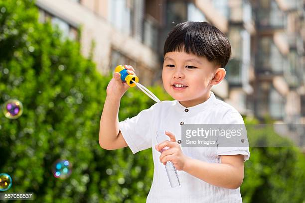 Kid Playing Outdoors