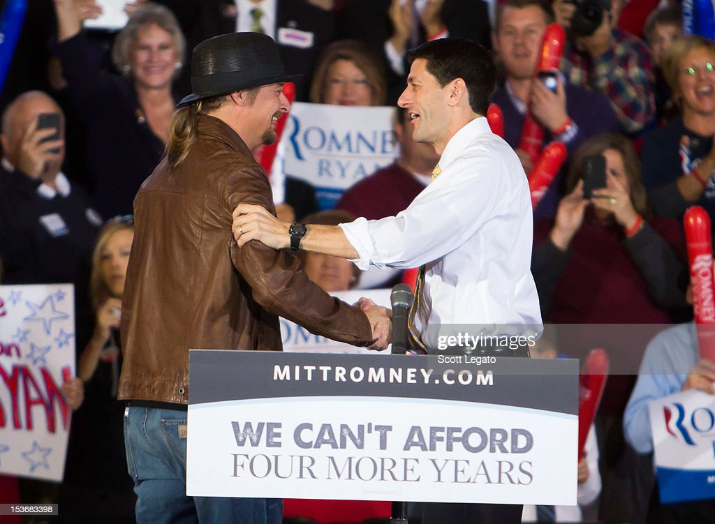 <a gi-track='captionPersonalityLinkClicked' href=/galleries/search?phrase=Kid+Rock&family=editorial&specificpeople=171123 ng-click='$event.stopPropagation()'>Kid Rock</a> (L) and Congressman Paul Ryan attends the Congressman Paul Ryan Rally With <a gi-track='captionPersonalityLinkClicked' href=/galleries/search?phrase=Kid+Rock&family=editorial&specificpeople=171123 ng-click='$event.stopPropagation()'>Kid Rock</a> at Oakland University Athletic Center on October 8, 2012 in Rochester, Michigan.