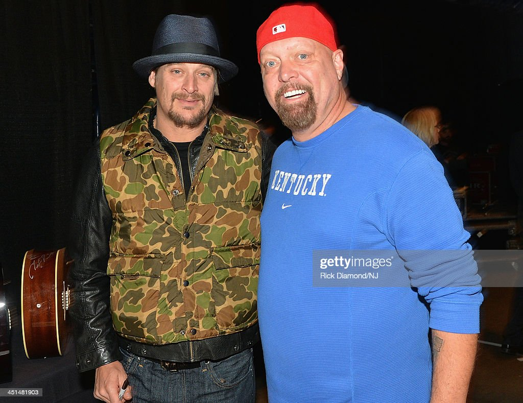 <a gi-track='captionPersonalityLinkClicked' href=/galleries/search?phrase=Kid+Rock&family=editorial&specificpeople=171123 ng-click='$event.stopPropagation()'>Kid Rock</a> and <a gi-track='captionPersonalityLinkClicked' href=/galleries/search?phrase=Eddie+Montgomery&family=editorial&specificpeople=221300 ng-click='$event.stopPropagation()'>Eddie Montgomery</a> backstage during rehearsals for Playin' Possum! The Final No Show Tribute To George Jones at Bridgestone Arena on November 22, 2013 in Nashville, Tennessee.