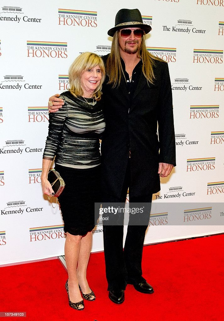 <a gi-track='captionPersonalityLinkClicked' href=/galleries/search?phrase=Kid+Rock&family=editorial&specificpeople=171123 ng-click='$event.stopPropagation()'>Kid Rock</a> (R) and his mother, Susan Ritchie arrive for a dinner for Kennedy honorees hosted by U.S. Secretary of State Hillary Rodham Clinton at the U.S. Department of State on December 1, 2012 in Washington, DC. The 2012 honorees are Buddy Guy, actor Dustin Hoffman, late-night host David Letterman, dancer Natalia Makarova, and members of the British rock band Led Zeppelin Robert Plant, Jimmy Page, and John Paul Jones.