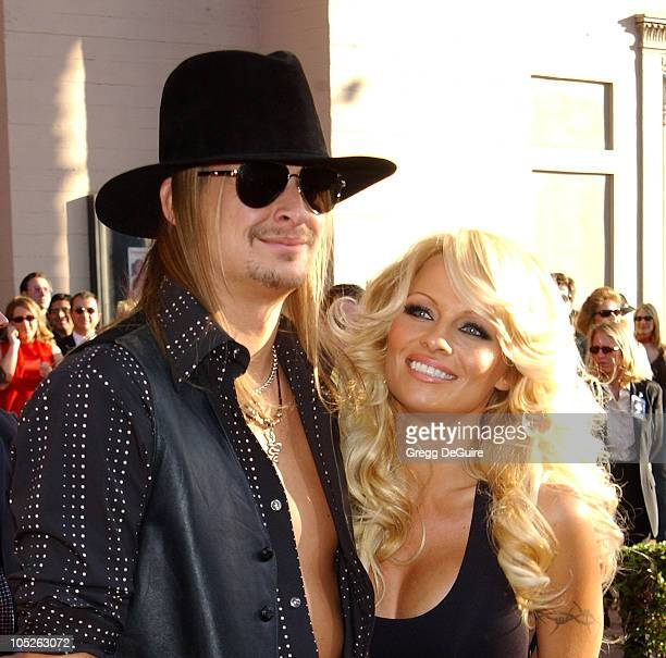 Kid Rock and Pamela Anderson during 31st Annual American Music Awards Arrivals at Shrine Auditorium in Los Angeles California United States