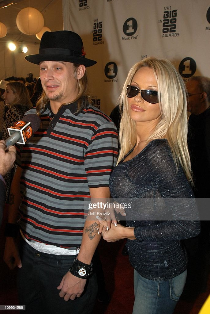 Kid Rock and Pamela Anderson during VH1 Big in 2002 Awards - Arrivals at Grand Olympic Auditorium in Los Angeles, CA, United States.