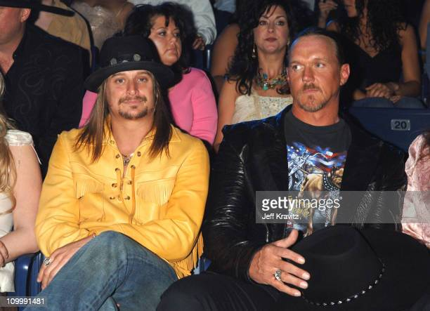 Kid Rock and Trace Adkins during 2006 CMT Music Awards Backstage and Audience at Curb Events Center at Belmont University in Nashville Tennessee...