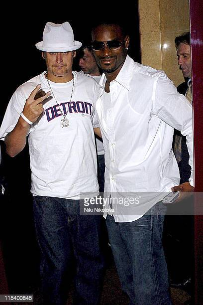Kid Rock and Tyson Beckford during Prince of Brunei Birthday Party June 24 2005 at Frankie's Bar Grill in London Great Britain
