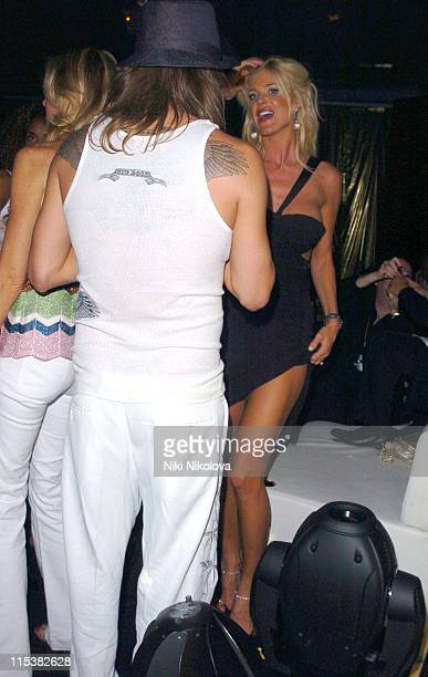 Kid Rock and Victoria Silvstedt during Naomi Campbell Birthday Party Arrivals in Cannes France