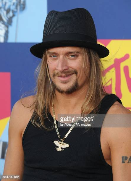 Kid Rock arrives for the MTV Video Music Awards 2008 at Paramount Studios Hollywood Los Angeles California