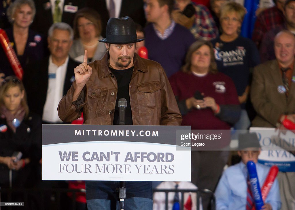 <a gi-track='captionPersonalityLinkClicked' href=/galleries/search?phrase=Kid+Rock&family=editorial&specificpeople=171123 ng-click='$event.stopPropagation()'>Kid Rock</a> attends the Congressman Paul Ryan Rally With <a gi-track='captionPersonalityLinkClicked' href=/galleries/search?phrase=Kid+Rock&family=editorial&specificpeople=171123 ng-click='$event.stopPropagation()'>Kid Rock</a> at Oakland University Athletic Center on October 8, 2012 in Rochester, Michigan.