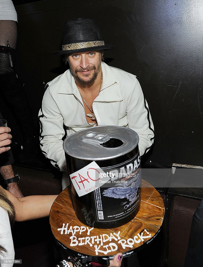 <a gi-track='captionPersonalityLinkClicked' href=/galleries/search?phrase=Kid+Rock&family=editorial&specificpeople=171123 ng-click='$event.stopPropagation()'>Kid Rock</a> celebrates his birthday during his after concert party at TAO Nightclub on January 28, 2012 in Las Vegas, Nevada.