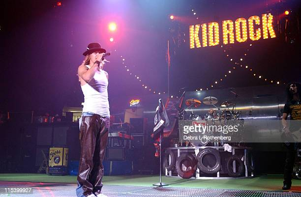 Kid Rock during Kid Rock Live In Concert May 10 2002 at Madison Square Garden in New York City New York United States