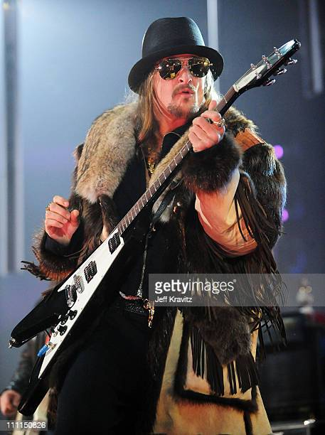 Kid Rock performs at the 2008 MTV Europe Music Awards held at at the Echo Arena on November 6 2008 in Liverpool England